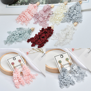 Lace fringe tassel handmade DIY earrings ear jewelry homemade material package accessories(China)