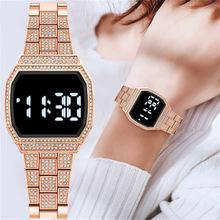 Wysokiej klasy cyfrowe zegarki damskie sportowe męskie zegarki elektroniczne LED męskie damskie zegarki damskie męskie zegarki damskie zegarki tanie tanio UT KAFTLN QUARTZ Składane bezpieczne zapięcie CN (pochodzenie) stal wolframowa bez wodoodporności simple 23mm Plac Wyświetlacz LED