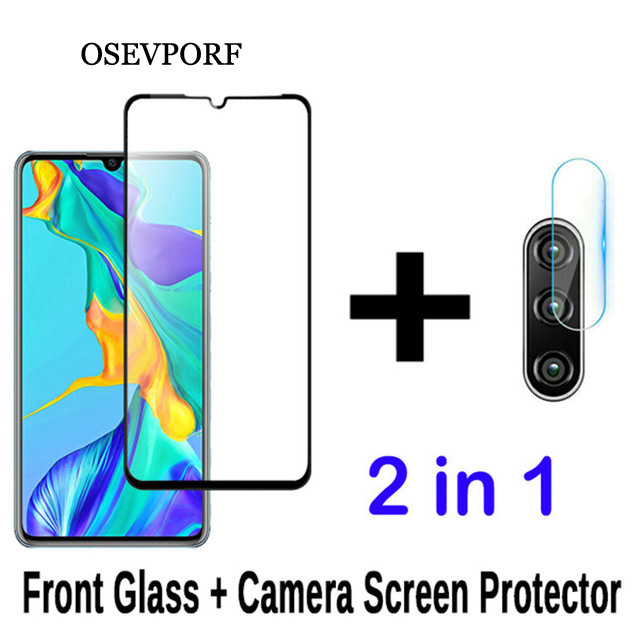 2-in-1 Camera Glass For Huawei P20 P30 Pro Lite Mate 20 30 P Smart 2019 Tempered Glass Screen Protector For Huawei P20 Film Glas
