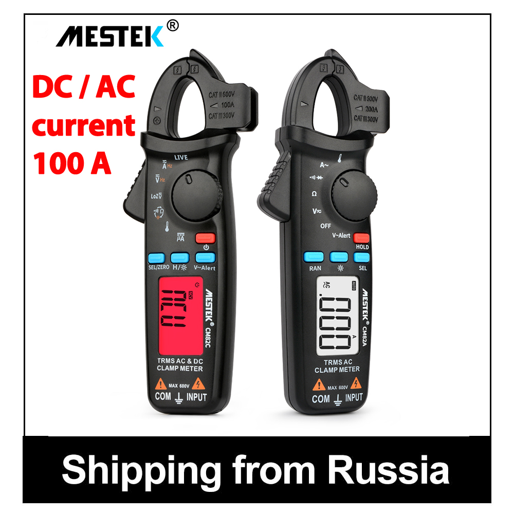 MESTEK CM82C True RMS Mini Digital Clamp Meters AC/<font><b>DC</b></font> Current Voltage Auto Range VFC Capacitance Non Contact Multimeter clamp image