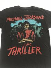 Michael jackson camiseta thriller zombie arte masculina tamanho m médio shirt vintage t camisa casual o-neck