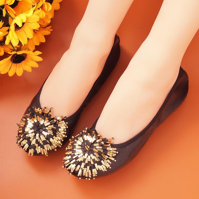2020 été haut à la mode femmes chaussures plates doux sans lacet mocassins dame conduite Zapatillas Mujer noir femme chaussures plates mocassins décontractés