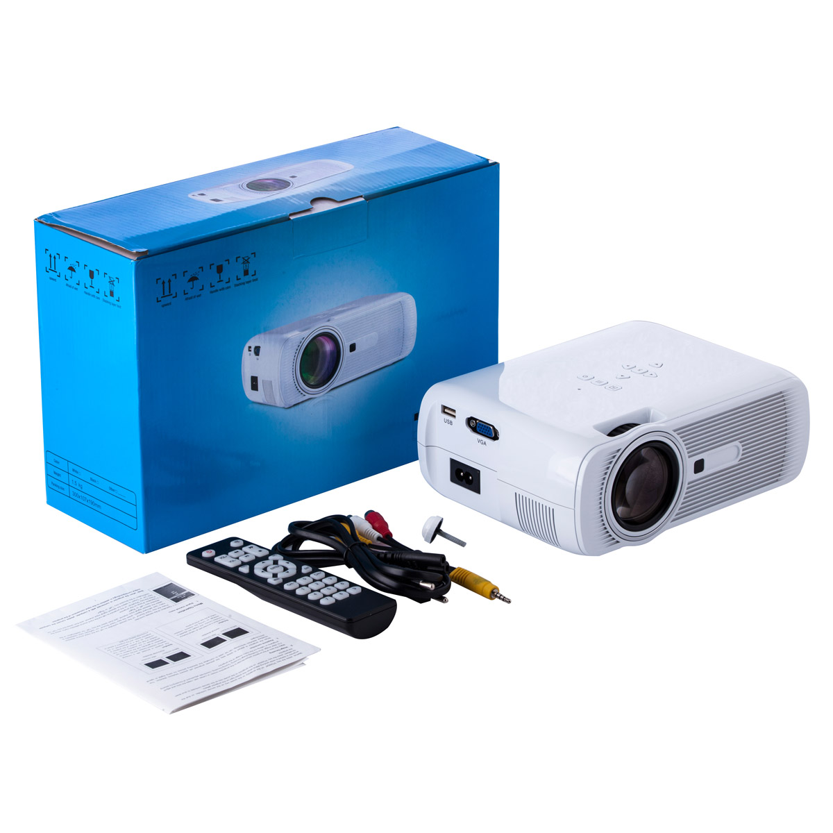 Multimedia 4K 1080P WiFi Android Bluetooth 3D LED Projector Home Cinema Supports Horizontal and Vertical Flip - 4