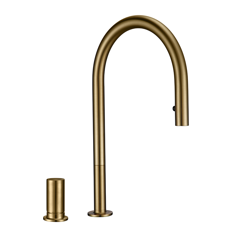 Modern Kitchen Faucet Brsuh Matt Brass Material Kitchen Sink Faucet Kitchen Product Kitchen Sink Mixer Tap
