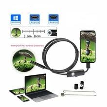 Автомобильный эндоскоп 5,5 мм трубы эндоскопическая 1-3,5 м USB инспекции канализации гибкий Камера 480pP видео бороскоп для ПК Android смартфон