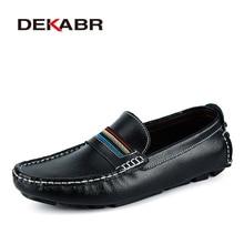Dekabrファッションメンズ靴本革カジュアルソフトで快適なローファー男性モカシン通気性ノンスリップ駆動靴