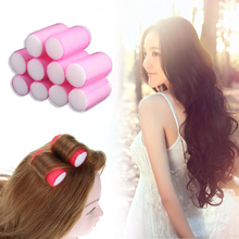 Hair-Curlers-Rollers Plastic DIY Home-Use 10pcs/Set