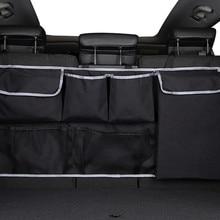 Car Rear Seat Organizer Auto Seat Back Storage Bag Automobile Trunk Cargo Mesh Ornaments Sundries Gadget Interior Accessories