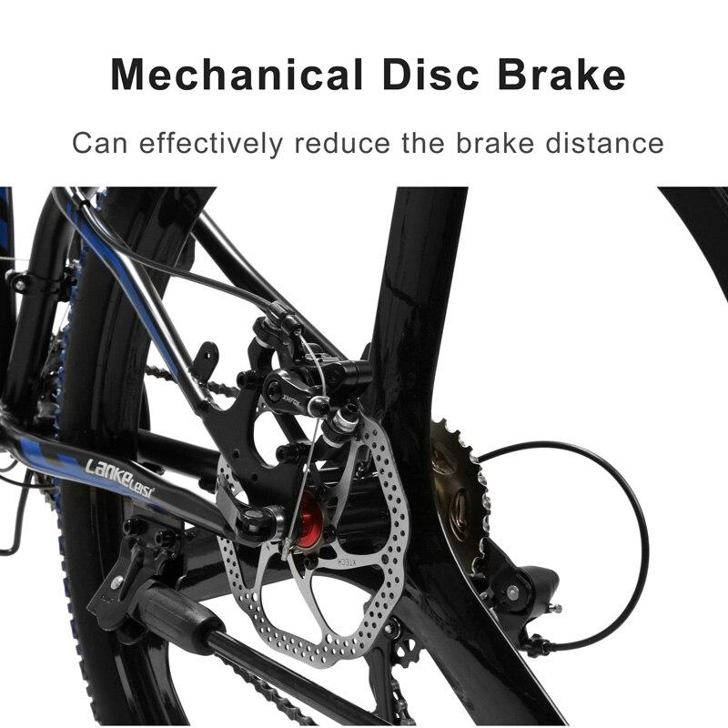 K660 21 скоростной горный велосипед, 26 дюймов складной велосипед, передняя вилка, механический дисковый тормоз, интегрированное колесо