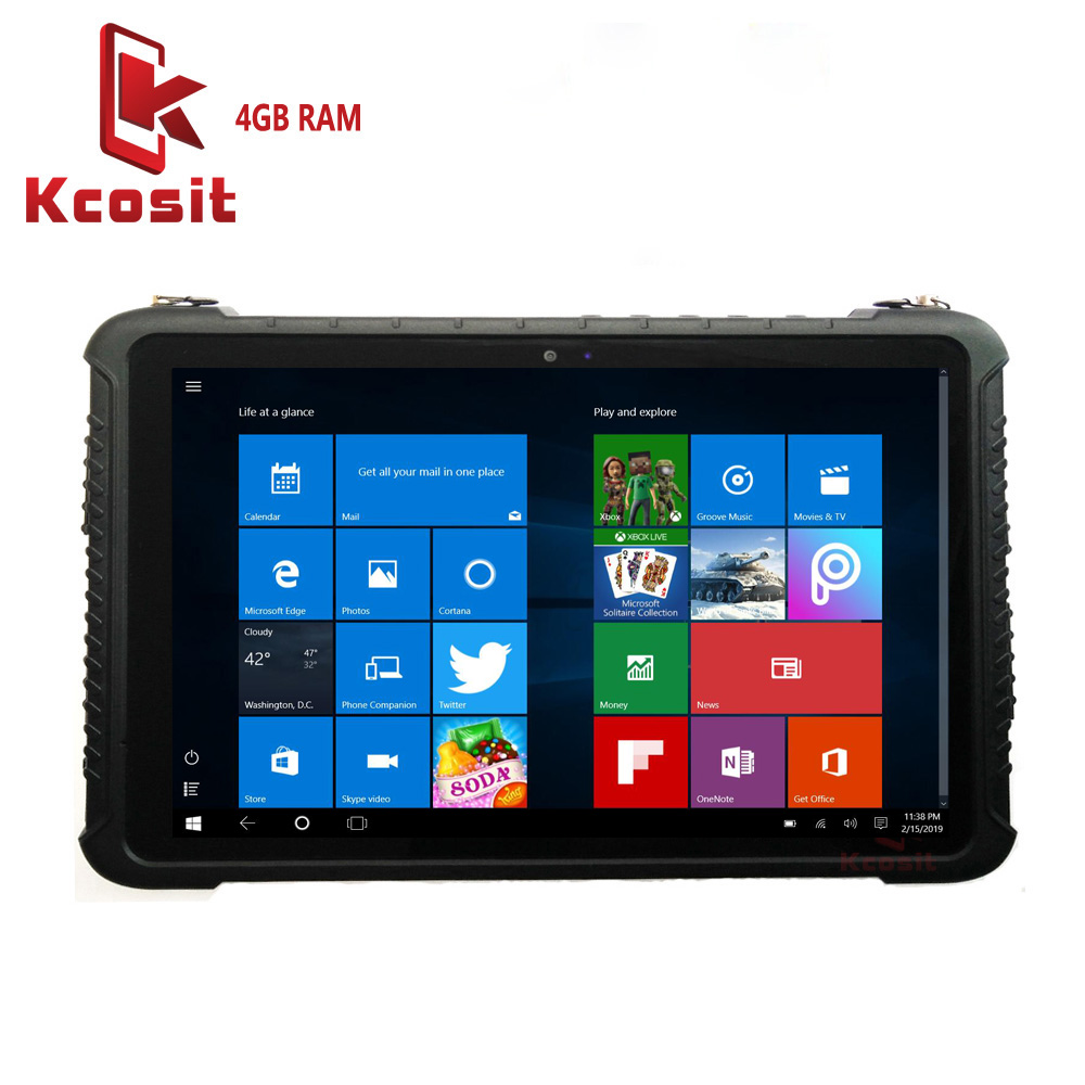 Original K16H Industrial Tablets PC Rugged Computer Windows 10 Pro 4GB RAM 64GB ROM Waterproof Phablet 10.1 Inch 64 Bit RS232