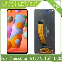 AMOLED дисплей 6,4 дюйма для Samsung Galaxy A11 A115 A115F A115F/Ds с рамкой, ЖК-дисплей, сенсорный экран, дигитайзер в сборе, запасные части