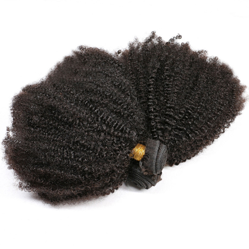 Afro-Kinky-Curly-Hair-Extension-Remy-Brazilian-Human-Hair-Weave-Bundles-Natural-Black-Can-Dye-Into
