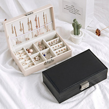 Casegrace PU Leather Jewelry Box Case Earrings Rings Necklace Storage Box Jewelry Display Case Makeup Jewelries Organizer Box недорого