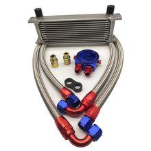 10/13Row AN10 Engine Oil Cooler Kit+ Oil Filter Cooler Sandwich etc.