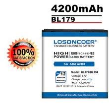 BL179 LOSONCOER 4200mAh/Bateria Do Telefone Móvel Para Lenovo A288T BL194 A298T A520 A660 A698T A690 A370 A530 Bateria Do Telefone