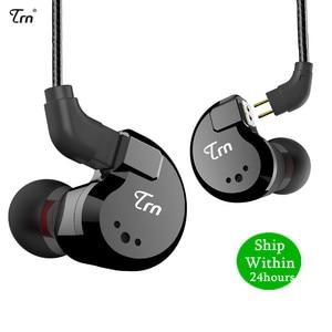 Image 1 - TRN V80 2BA+2DD Hybrid Metal In Ear Earphone HIFI DJ Monito Running Sport Earphone Earplug Headset im2\im1\ie80\x6\p1\n1\T2\V30