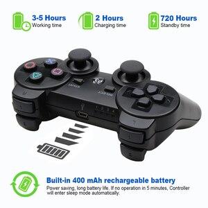 Image 5 - 무선 블루투스 원격 게임 조이패드 컨트롤러 PS3 Controle 게임 콘솔 조이스틱 PS3 콘솔 게임 패드 PC 용