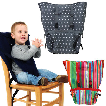 цена на Baby chair safety belt Portable Infant Seat Infant Feeding High Chair Harness Belt Portable Baby Lunch Dining cushion cover