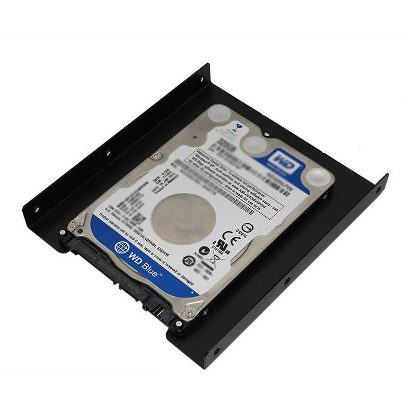 OULLX 2,5 pulgadas SSD HDD a 3,5 pulgadas soporte de adaptador de montaje de Metal soporte de disco duro para PC Disco Duro carcasa