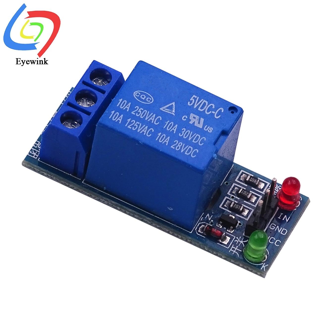 Плата интерфейса 1-канального релейного модуля щит для Arduino 5 В/12 В/24 В низкоуровневый триггер One PIC AVR DSP ARM MCU DC AC 220 В