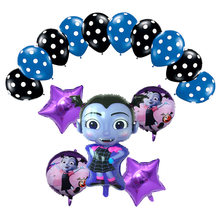 Vampire Girl Pentagram Witch Helium Foil Balloons Set Children Toys Birthday Christmas Halloween Party Vampirina Balloon Decor(China)
