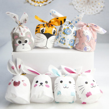 Fanlus 10pcs / lot of new cute rabbit ear bag biscuit plastic candy gift bag and dessert baking activity party decorate supplies