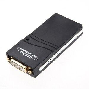 USB 2,0 УЗА к VGA/DVI/HDMI HD 1920X1080 видео Ie адаптер для нескольких Дисплей мониторы конвертер адаптер для ПК Компьютерные кабели и разъемы      АлиЭкспресс