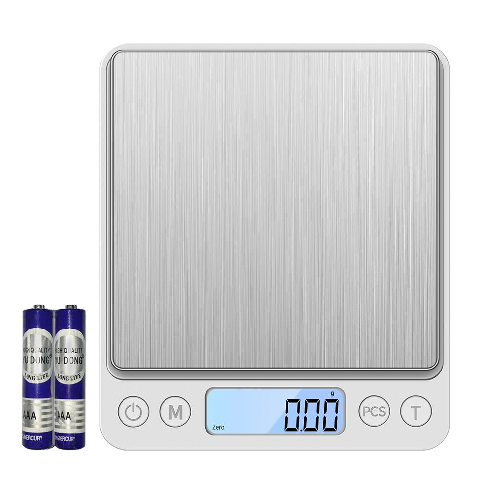 KUBEI 3000g/0.1g 500/0.01g Precision LCD Digital Scales Mini Electronic Grams Weight Balance Scale For Food  Coffee Jewelry