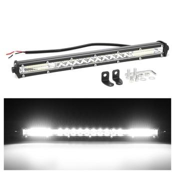 15 cal 90W listwa świetlna led robocza powodzi lampy punktowe lampa do jazdy Offroad samochodów Truck SUV 12V 6000K