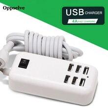 Oppselve 6 портов usb хаб настольное настенное зарядное устройство