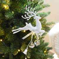 Merry Christmas Decorations Silver Gold Xmas Baubles Chital Christmas Tree Ornament Reindeer Party Decor Hanging