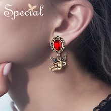 SPECIAL earrings ear clips angel in the old castle 2019 new wave S2273E