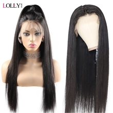 Lolly Glueless Human Hair Wigs Straight Lace Wig For Black Women 4X4 Closure Wig 8-26″ Brazilian Remy Hair Wigs