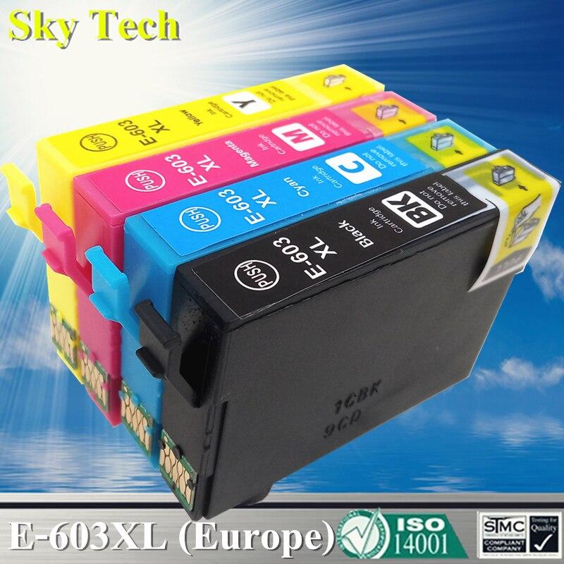 Совместимые чернильные картриджи для 603XL T603XL, для Epson XP-2100 XP-2105 XP-3100 XP-3105 XP-4100 XP-4105 WF-2810 WF-2830 WF-2850