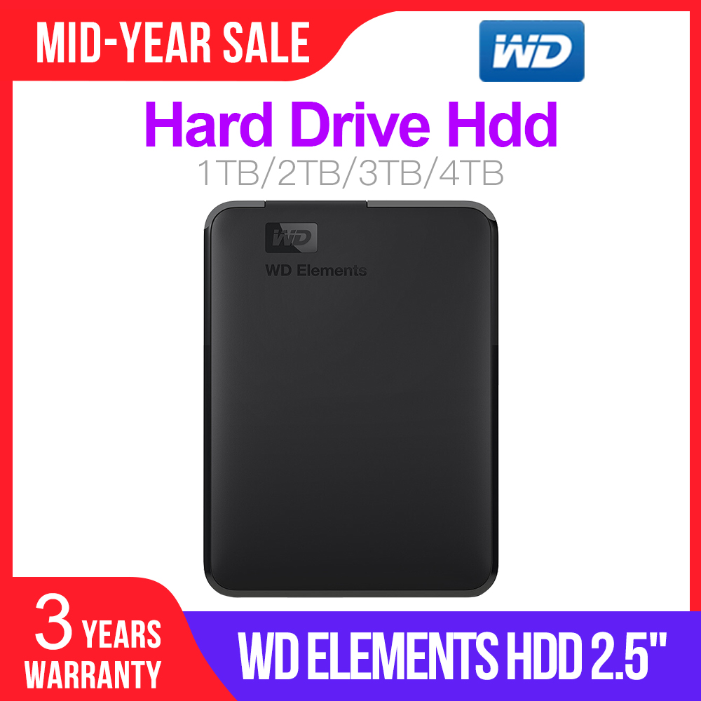 WD Disk 4TB Hard-Drive Laptop 3TB External-Hdd Portable Hdd Wd-Elements 1TB Usb-3.0