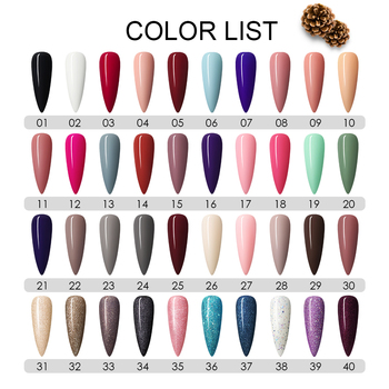 COSCELIA 40pcs/set Gel Nail Polish Set Nail Art Set For Gel Varnish Hybrid For Nail Art Manicure Set Semi Permanent UV Gel 2