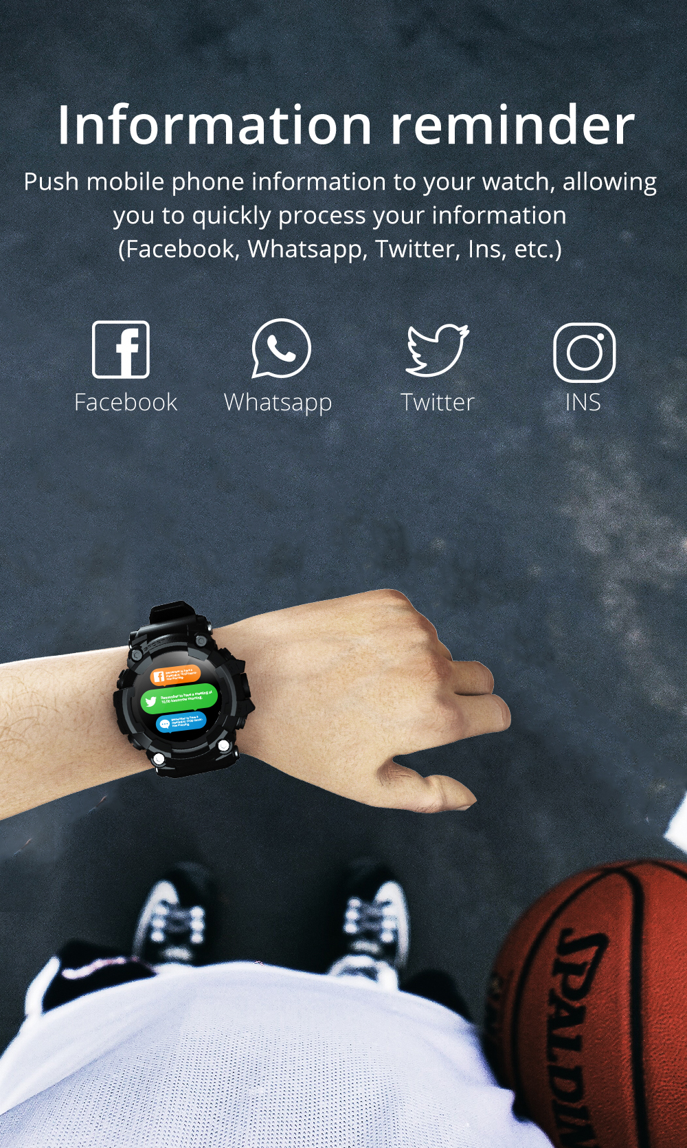 H474045e2c75c437781019b5babece1bd4 LOKMAT ATTACK Full Touch Screen Fitness Tracker Smart Watch Men Heart Rate Monitor Blood Pressure Smartwatch For Android iOS