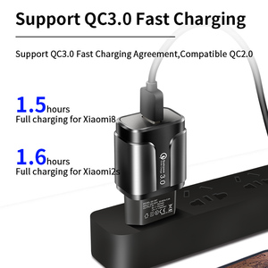 Image 2 - YKZ USB Charger,Mobile phone charger 18W QC3.0 Fast Charging EU US wall charger For iPhone Samsung Xiaomi Huawei Phone Adapter