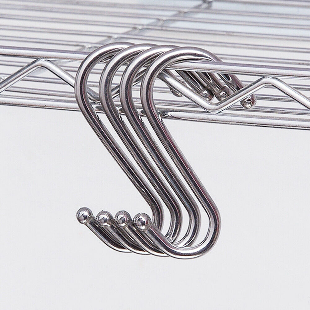 10 Pcs Stainless Steel S Hooks Kitchen Meat Pan Utensil Clothes Hanger Hanging Multifunction Hooks Hanger Racks