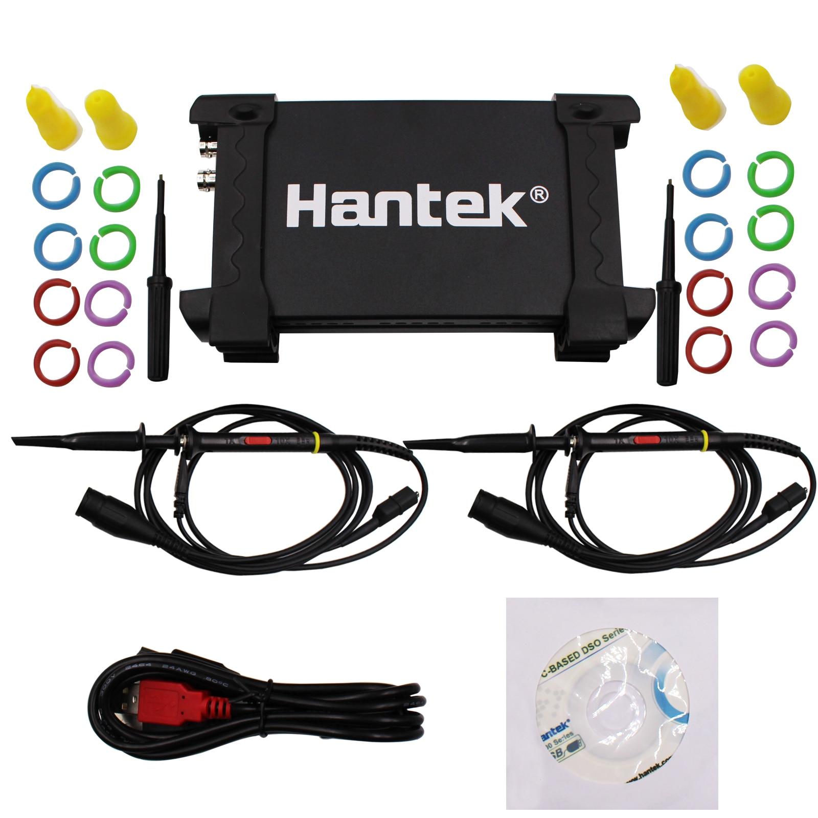 Da fábrica diretamente! Hantek 6022be usb portátil osciloscópio armazenamento digital 2 canais 20mhz 48msa/s osciloscópio