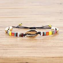 Shinus Shell Bracelet For Women Japan Miyuki Tila Beads Bracelets Boho Summer Beach Colorful  Jewelry Pulseras Mujer Moda 2019