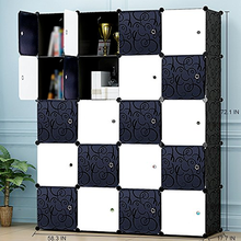 Portable Wardrobe for Hanging Clothes Combination Armoire Modular for Bedroom Wardrobe