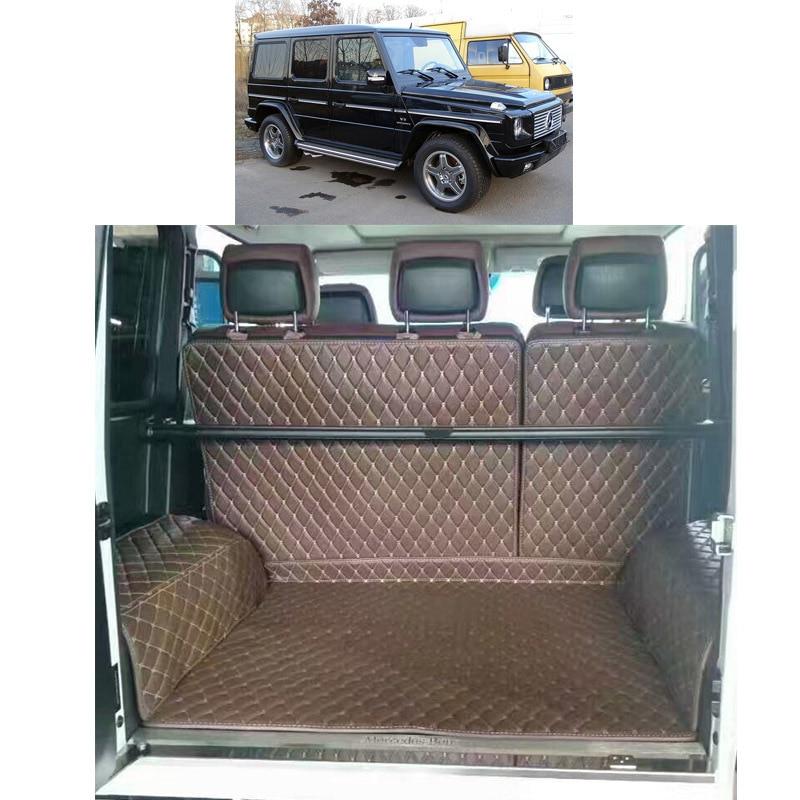 2017 кожаный коврик для багажника автомобиля, подкладка для груза для mercedes benz G500 G350d G55 G63 G65 AMG 2004-2017 2016 2015 2014 w463 463