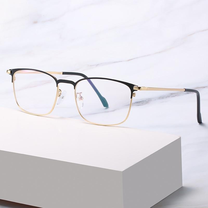 Купить очки против голубого излучения мужские бизнес стиль металлические