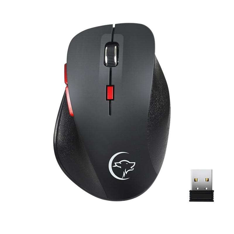 2.4Ghz Wireless Mouse Ergonomic Mice 6 Buttons 2400Dpi 4 Adjustment Levels For Computer Laptop Desktop