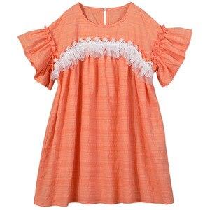 Image 3 - 2020 ילדים חדשים תחרה שמלת מותג בנות שמלת תינוק נסיכת שמלת ילדים קיץ שמלת כותנה אקארד חמוד פעוט בגדים, #5570
