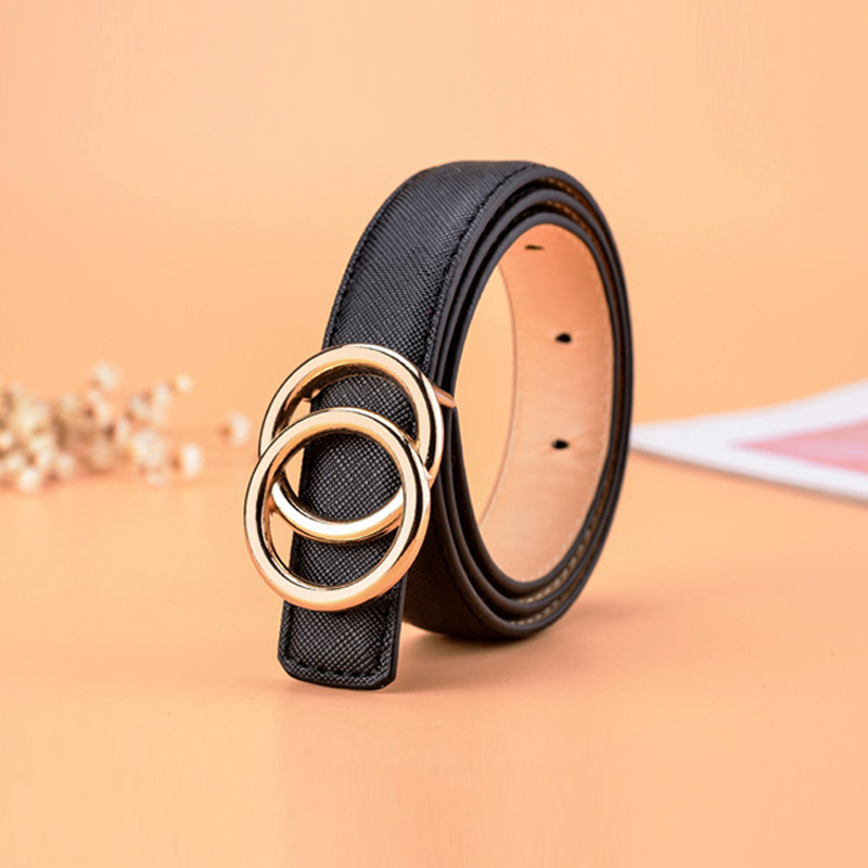 Kids Belt Boys Girls Waist Cute Fashion Belts For Women Luxury Brand Pearl Studded Gold Buckle Black Leather Ceinture Femme