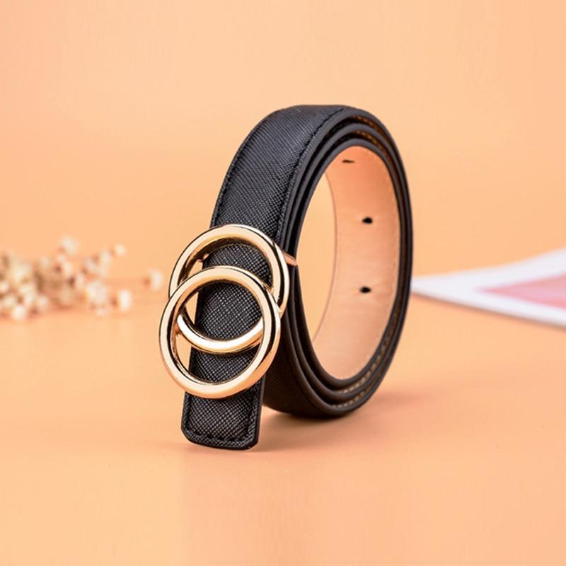 Kids Belt Boys Girls Waist Cute Fashion Belts For Women Luxury Brand Pearl Studded Gold Buckle Black Leather Ceinture Femme