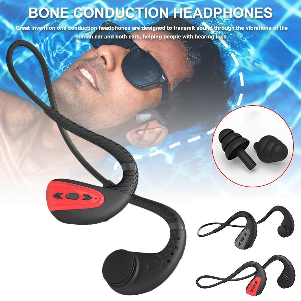 Bone Conduction Bluetooth 5.0 Headset Stereo Level 8 Waterproof Sports Swimming Running Wireless Headphone Mic Handsfree Headset on AliExpress 12