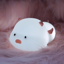 Touch Sensor Night Light USB Rechargeable Silicone LED Animal Bedroom Beside Night Lamps For Baby Children Kids Gift Desk Lamp mumeng led night light motion sensor baby usb cute whale rechargeable children night lamp toy lights silicone safety dolphin